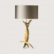 Porta Romana Bright Gold Forged Miro Table Lamp SLB44