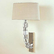 Porta Romana Curved Lartigue Crystal Cube Wall Light