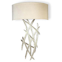 Porta Romana TWL24S Small Flynn Wall Light, Burnished Silver