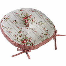 Walton & Co Rose Cottage Round Seat Pad & Ties