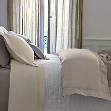 Yves Delorme Triomphe Egyptian Cotton Sateen Flat Sheets