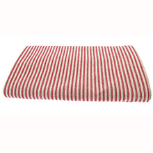 Walton & Co County Ticking Dorset Red Tablecloth