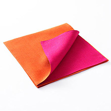 Chilewich Reversible Linen Napkin Papaya / Cyclamen