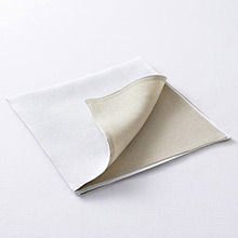 Chilewich Reversible Linen Napkin White / Natural