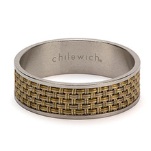 Chilewich Mini Basketweave New Gold