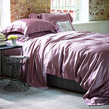 Gingerlily Plain Pink Mulberry Silk Duvet Cover