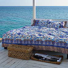Bassetti Tiepolo V2 Blue Quilted Bedspread