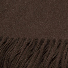 Sofia Cashmere Trentino Chocolate Fringed Cashmere Throw