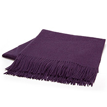 Sofia Cashmere Trentino Myrtle Fringed Cashmere Throw