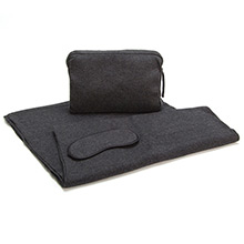 Sofia Cashmere Romagna Charcoal Cashmere Travel Set