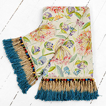 Voyage Pom Pom Floral Throw