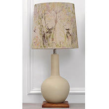 Voyage Galina Lamp Biscuit matt glazed ceramic with Enchanted Forest Shade