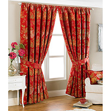 Paoletti Berkshire Red Curtains