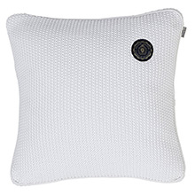 Grand Design Moss Knit Cushion White