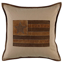Grand Design US Leather Star Cushion Sand