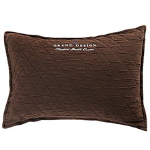 Grand Design Classic Quilt Cushion Brown