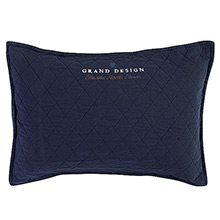 Grand Design Classic Quilt Cushion Navy