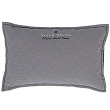Grand Design Classic Quilt Cushion Grey