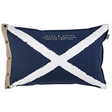 Grand Design Nantucket Cross Cushion Navy