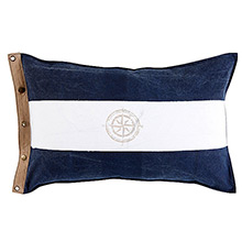 Grand Design Compass Flag Cushion Navy