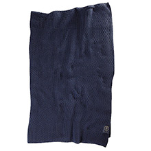 Grand Design Moss Knit throw Navy