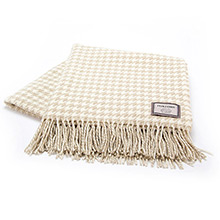 Foxford Houndstooth Double Twill Bone and Natural Throw