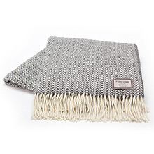 Foxford White and Oxford Grey Animal Print Throw