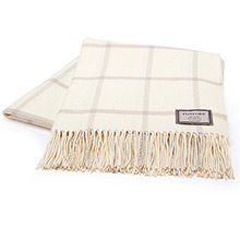 Foxford White and Bone Windowpane Throw