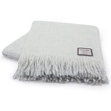 Foxford Palma Blue Mohair Throw