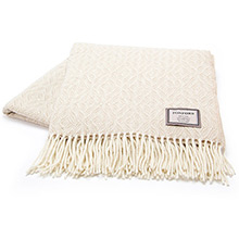 Foxford Bone Diamond Throw