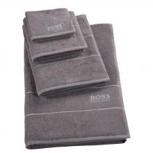 Hugo Boss Plain Concrete Towels