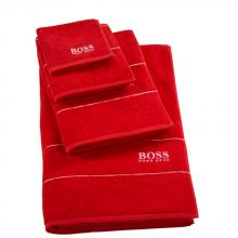 Hugo Boss Plain Poppy Towels