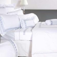 Peter Reed Greek Key Egyptian Cotton Percale Flat Sheet