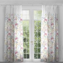 Voyage Hedgerow White Eyelet Curtain Panels (pair)