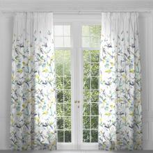 Voyage Jarvis Lemon Eyelet Curtain Panels (pair)