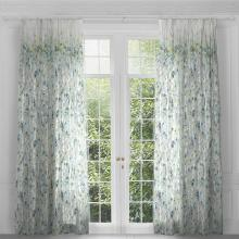 Voyage Hopea Aqua Eyelet Curtain Panels (pair)