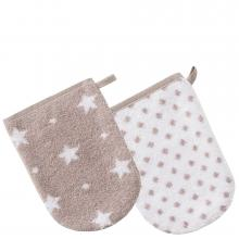 Vossen Beam and Bubbles Kids Wash Mitt Set