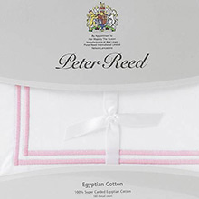 Peter Reed Yellow Ribbon 2 Row Matt Cord Q500 flat sheets