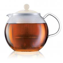 Bodum Assam Tea Press with Off White Lid