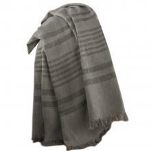 Karl Lagerfeld Linen Stripe Grey Throw
