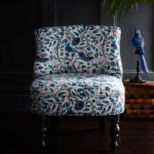 Emma J Shipley for Clarke & Clarke Rousseau Blue Langley Chair