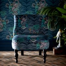 Emma J Shipley for Clarke & Clarke Lemur Navy Langley Chair