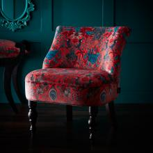 Emma J Shipley for Clarke & Clarke Amazon Red Langley Chair