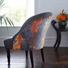 Emma J Shipley for Clarke & Clarke Tigris Flame Soho Chair