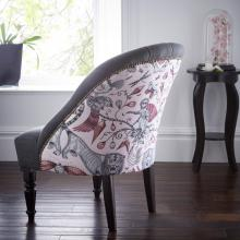 Emma J Shipley for Clarke & Clarke Extinct Pink Soho Chair
