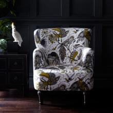 Emma J Shipley for Clarke & Clarke Audubon Gold Dalston Chair