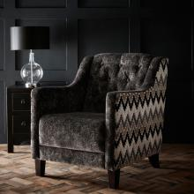 Clarke & Clarke Stucco Ebony Hampton Chair
