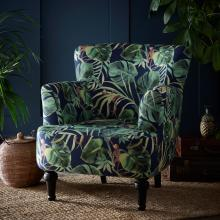 Clarke & Clarke Monkey Business Indigo Dalston Chair