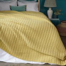 Bluebellgray Washed Quilted Throw