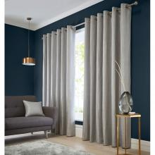 Studio G Catalonia Silver Eyelet Curtains